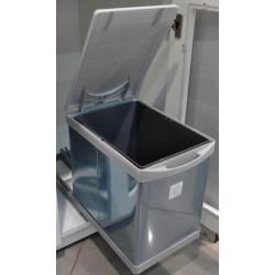 Контейнер выдвижной Clean Bin 16л, пластик/нерж.сталь, цвет: серый