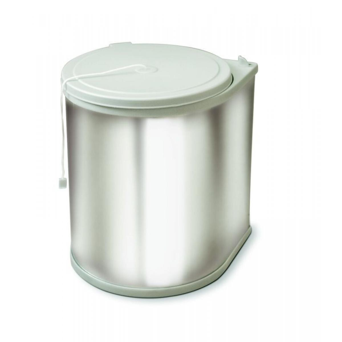 Ведро Clean Bin, 13л, пластик/нерж.сталь, цвет: серый