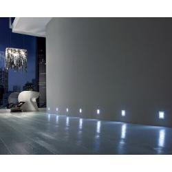Светильник светодиодный Base 0,4W 12V 5000*K (холодный свет) 4LED цвет серый металлик