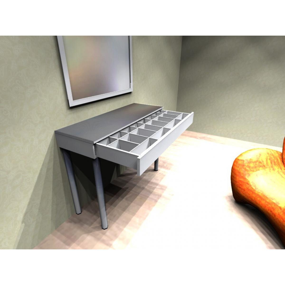 Косметический столик с ящиком полного выдвижения
