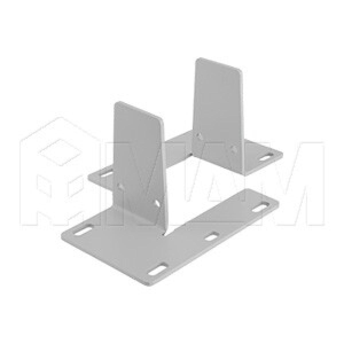 Крепление экрана-перегородки над столом, комплект для двойного стола
