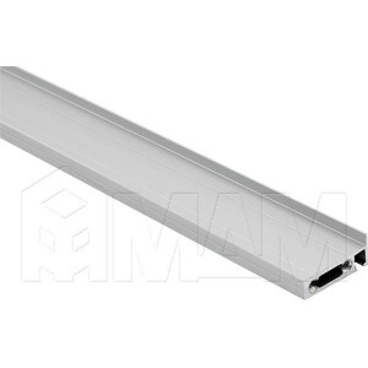 EXIT Профиль заглушки кабель-канала, серебро, L-2000