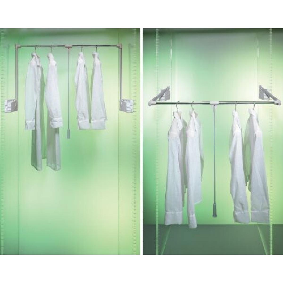 пантограф мебельный Лифт 500 для одежды в шкаф проем 75-115см вес до 10кг цвет серый; Производитель: Ambos SRL ИТАЛИЯ