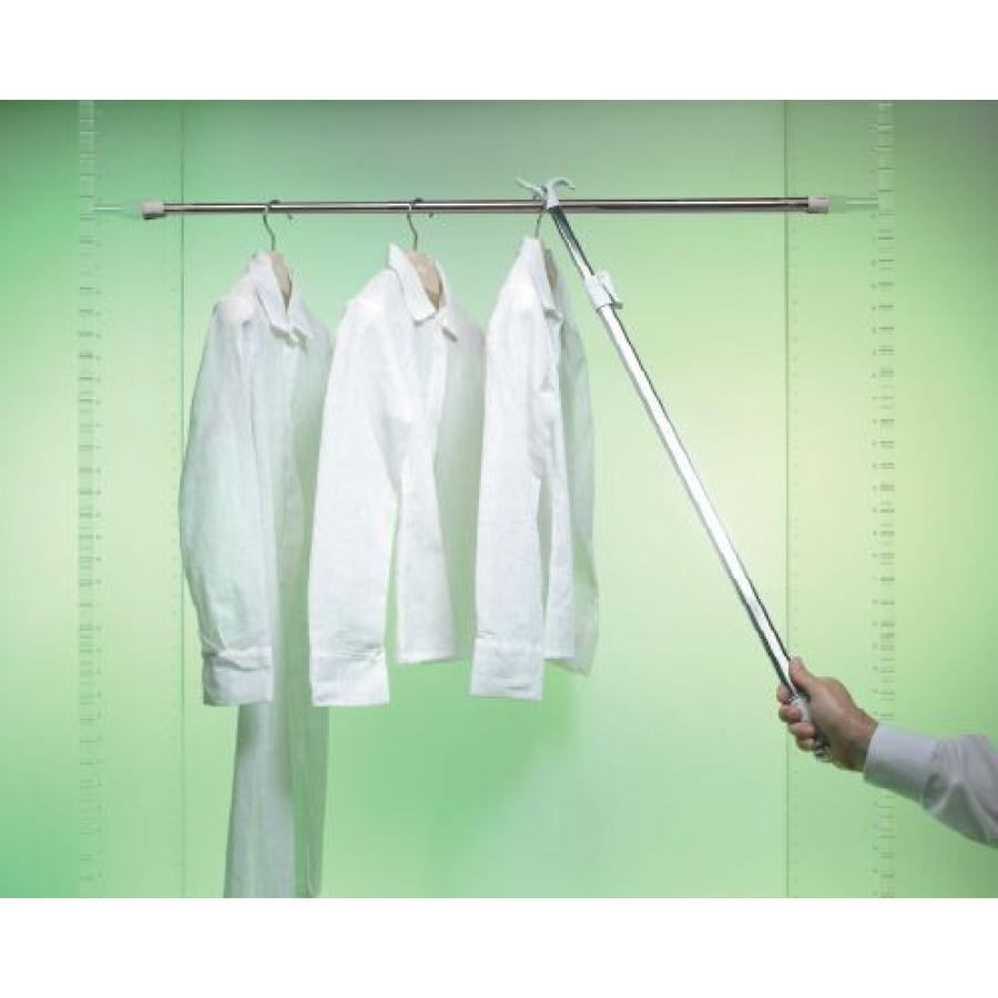 Съемник для одежды телескопический 132 цвет серый (упаковка LM)