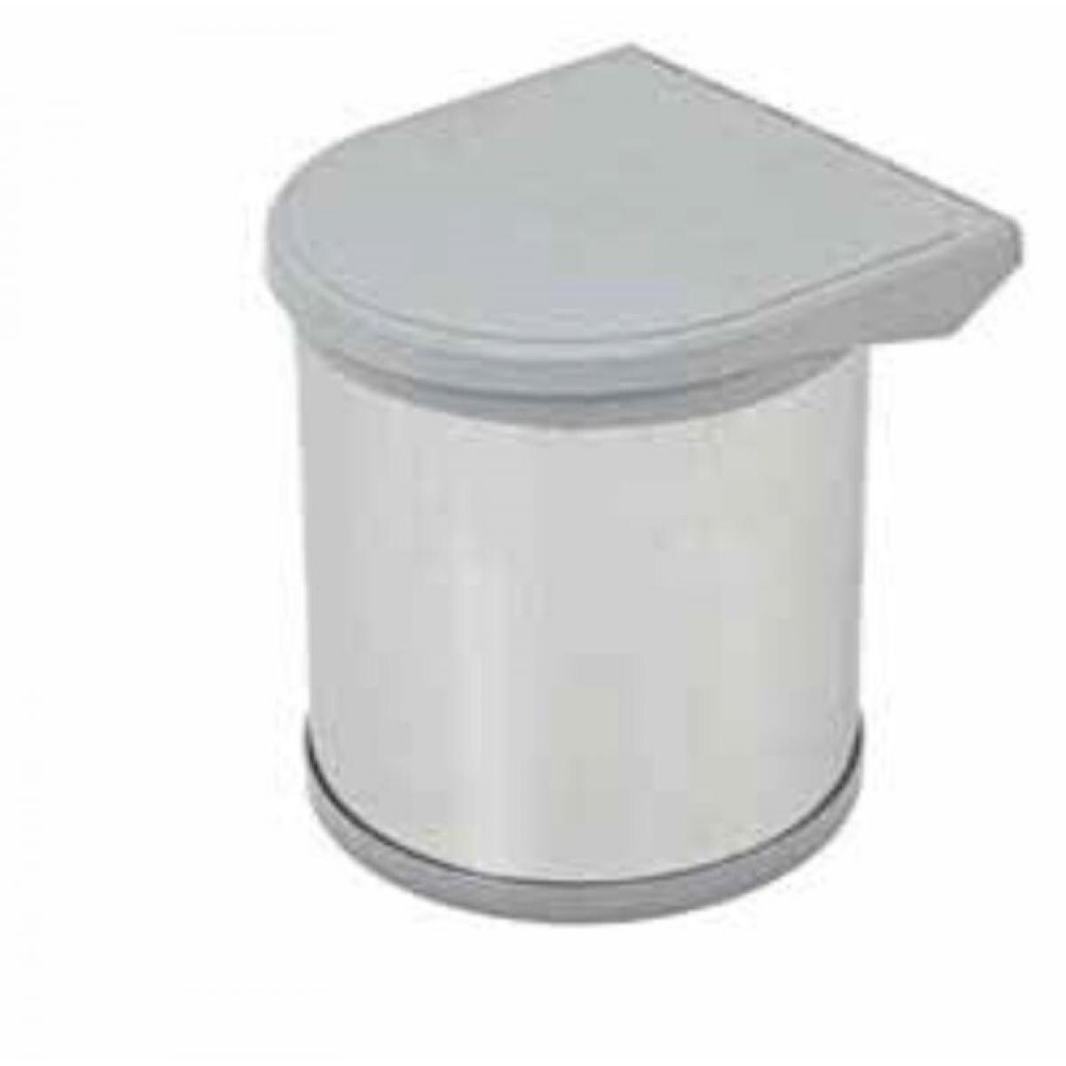 Ведро для базы от 400мм, 10л, пластик/нерж.сталь, *цвет- серый