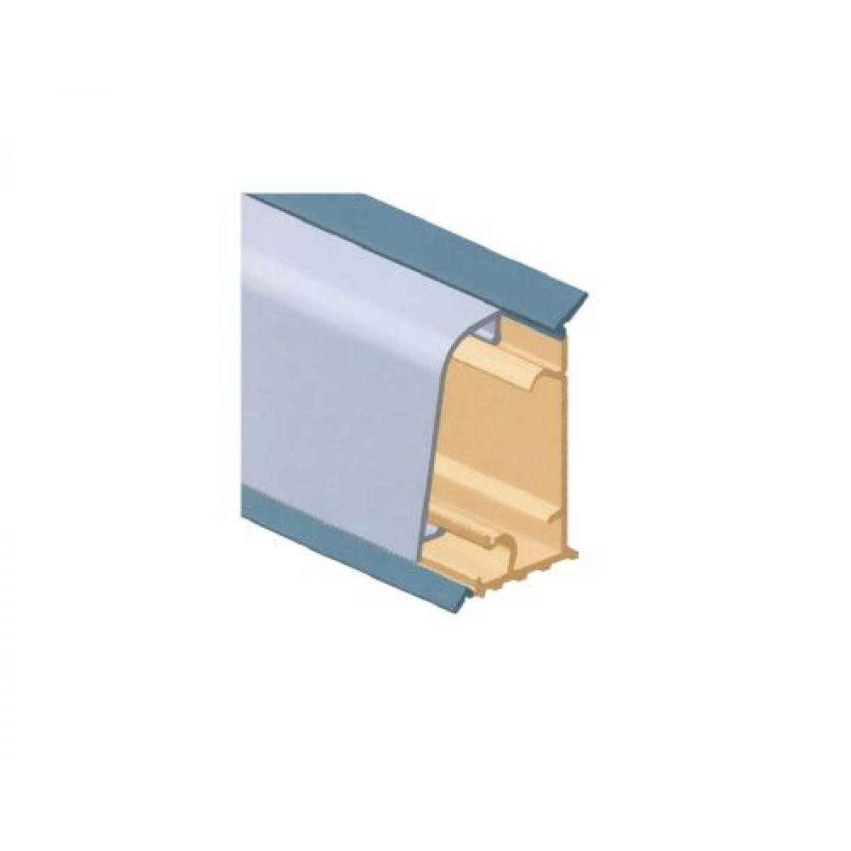 Плинтус столешницы M3000, с алюминиевой вставкой L=4000 цвет алюминий