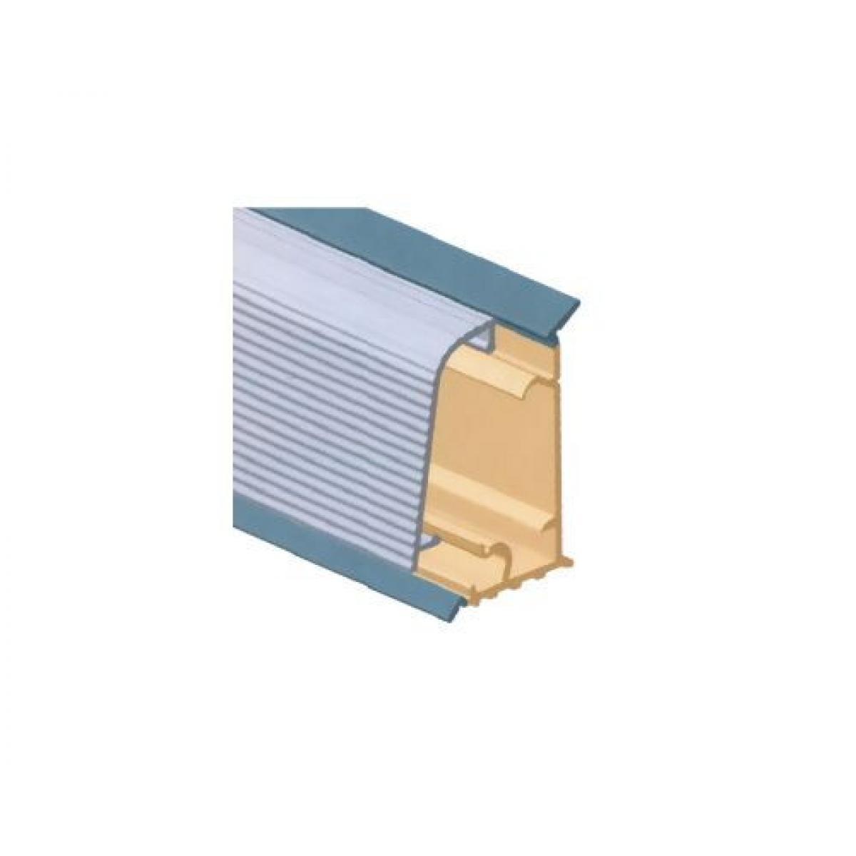 Плинтус столешницы M3030, с алюминиевой вставкой L=4000 цвет алюминий