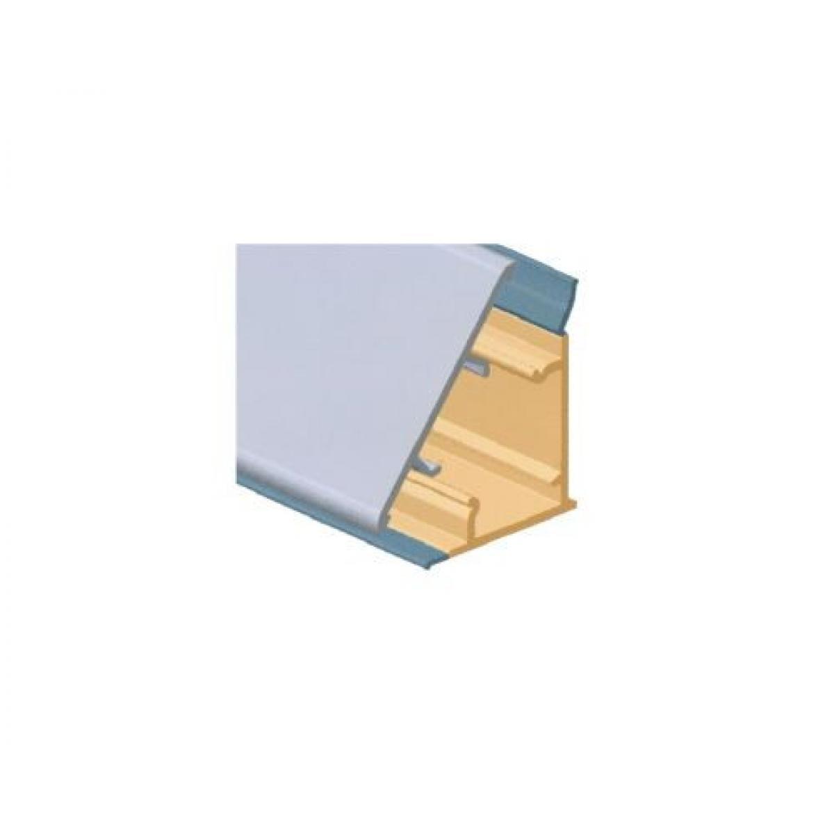 Плинтус столешницы M3500, с алюминиевой вставкой L=4000 цвет алюминий