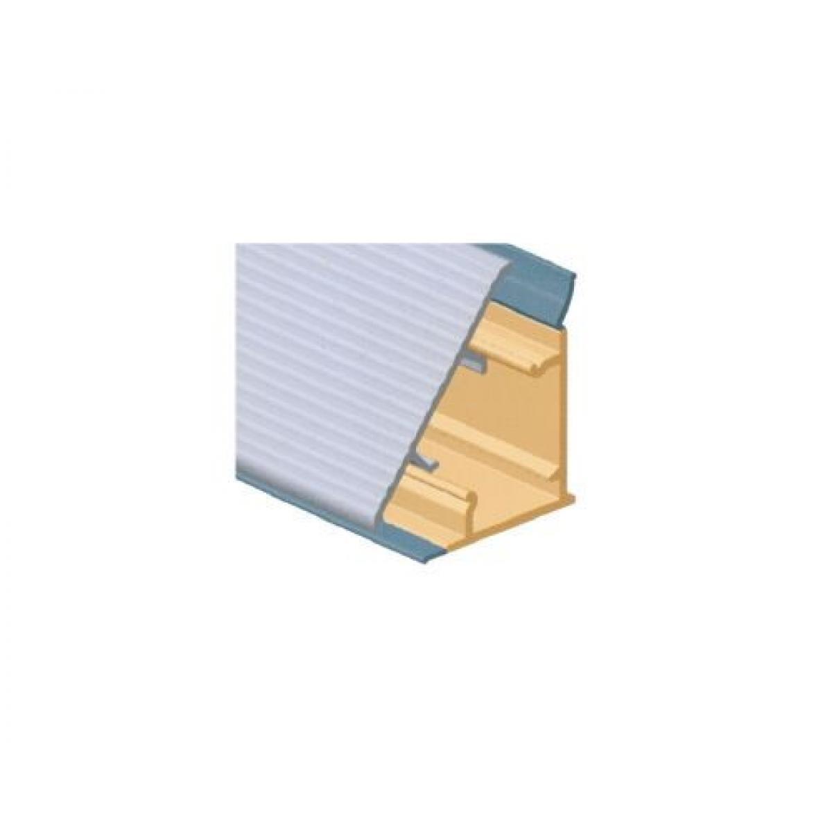 Плинтус столешницы M3530, с алюминиевой вставкой L=4000 цвет алюминий
