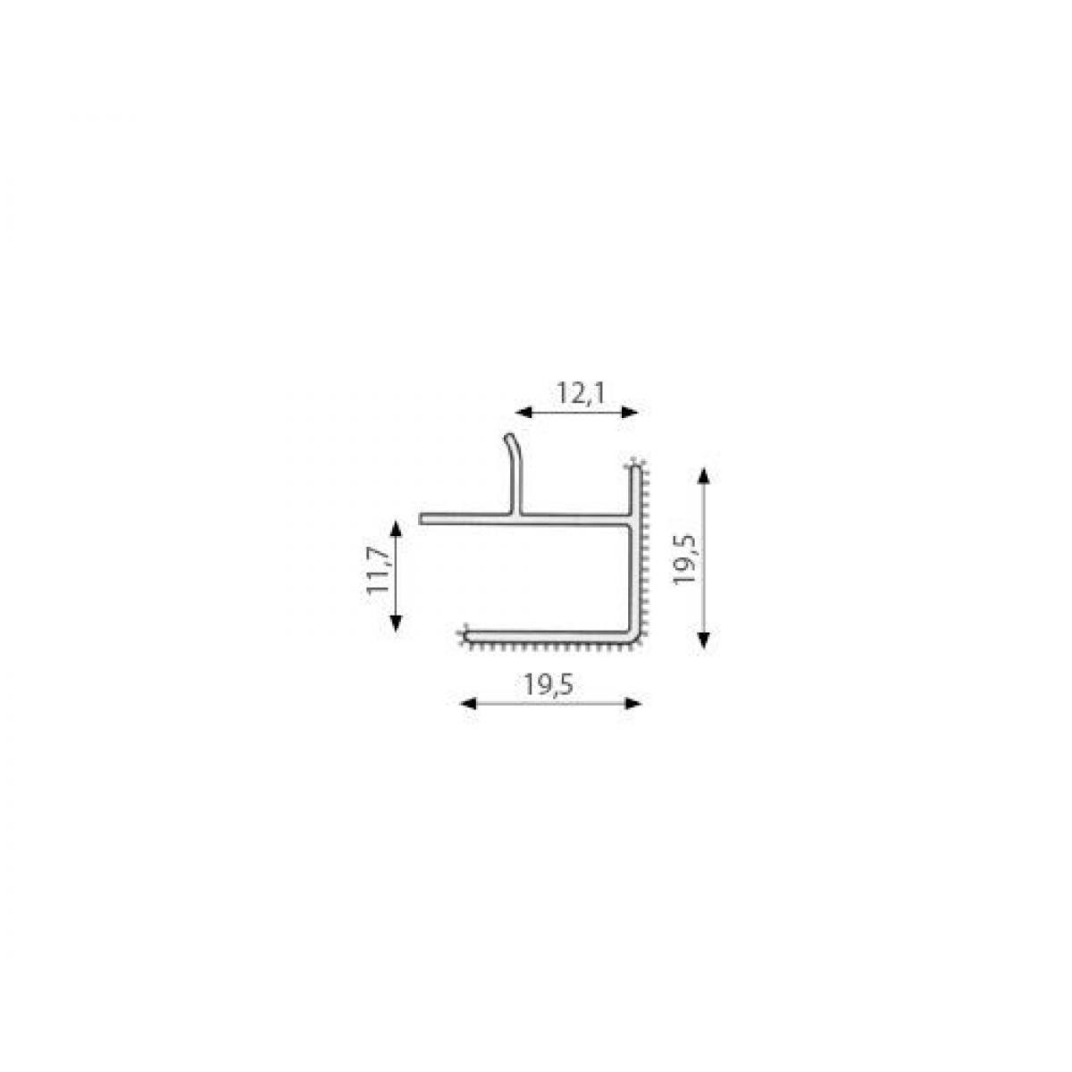 Угловой элемент цоколя 90 град. 1353 Н=100
