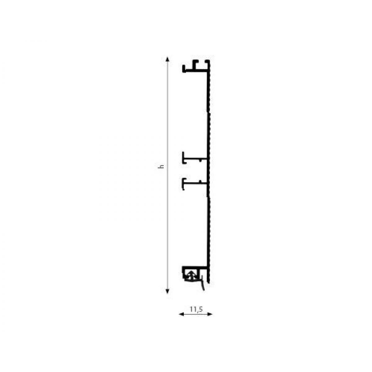 Цоколь алюминиевый R4080 50S H=100 L=4,1м