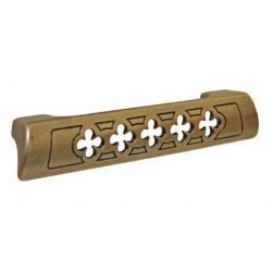 ручка 1353А 0021, Межосевое расстояние для крепления ручки -128мм, покрытие состаренное золото 21