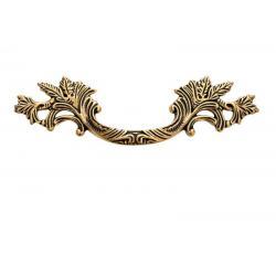 ручка 1339А 0021, Межосевое расстояние для крепления ручки -64мм, цвет состаренное золото 21