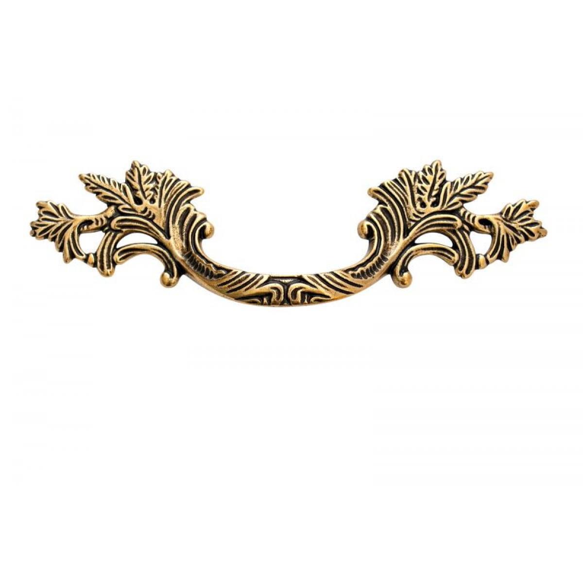 ручка 1339С 0021, Межосевое расстояние для крепления ручки -48мм, покрытие состаренное золото 21