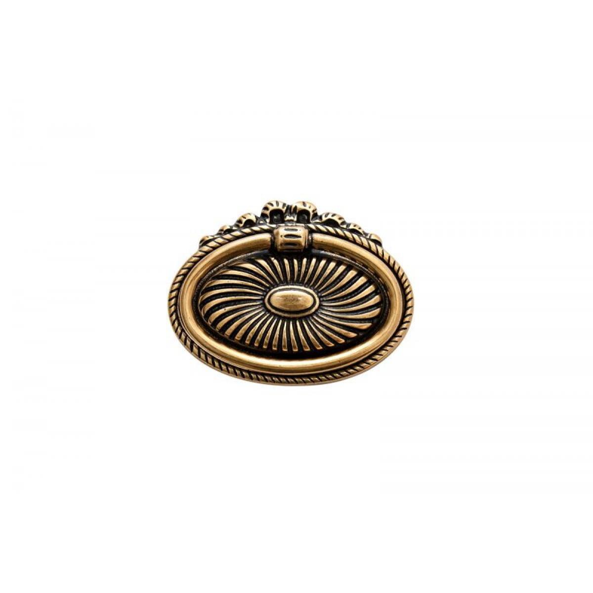 ручка 1271А0021, Межосевое расстояние для крепления ручки -32мм, покрытие состаренное золото 21