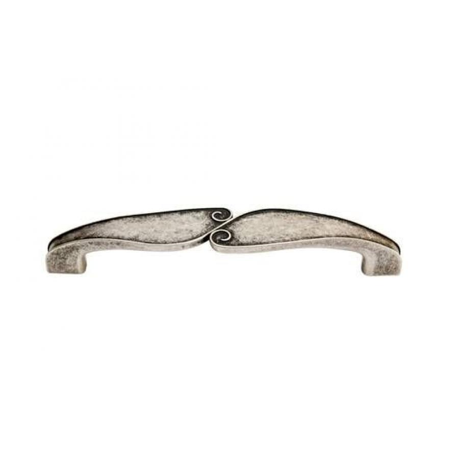 ручка 1401, Межосевое расстояние для крепления ручки - 128мм, покрытие состаренное серебро 6D