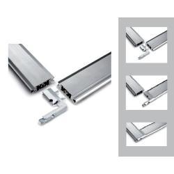 Slim 3524 Крепление к стене* так же в комплекте:угловой коннектор *цвет-алюминий