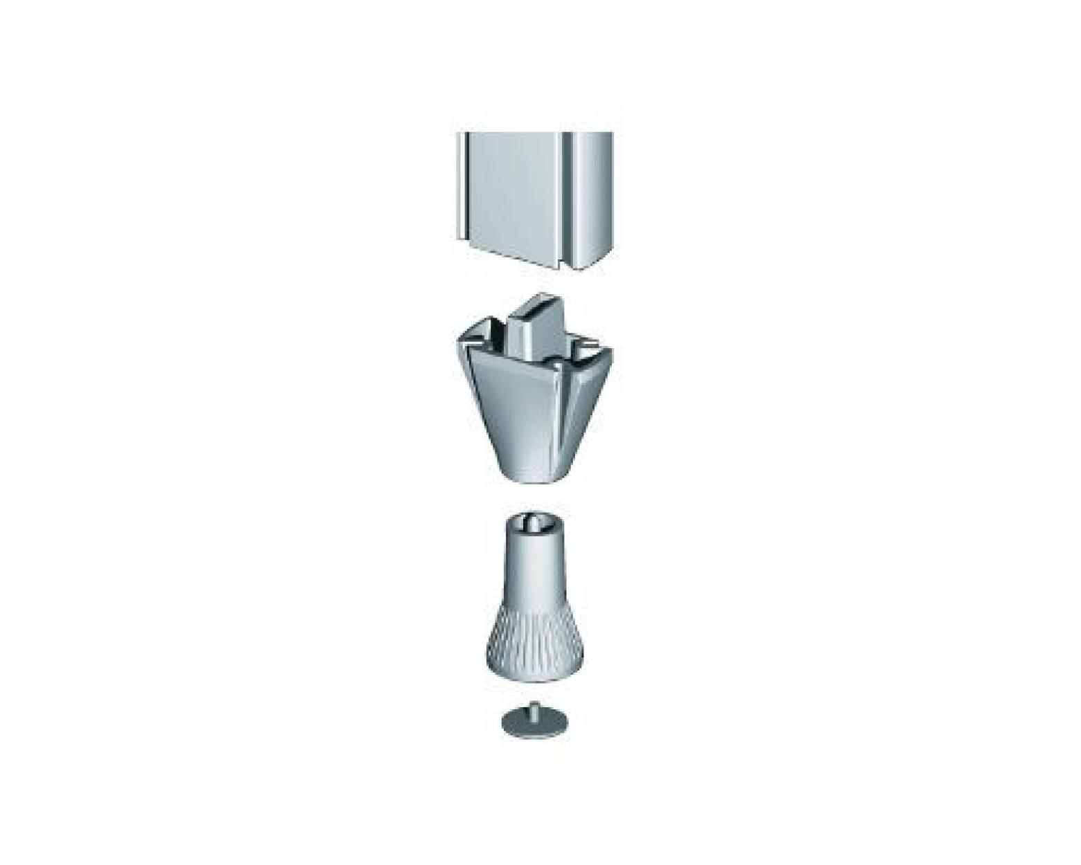 Stilos 3444 опора регулируемая высокая цвет алюминий