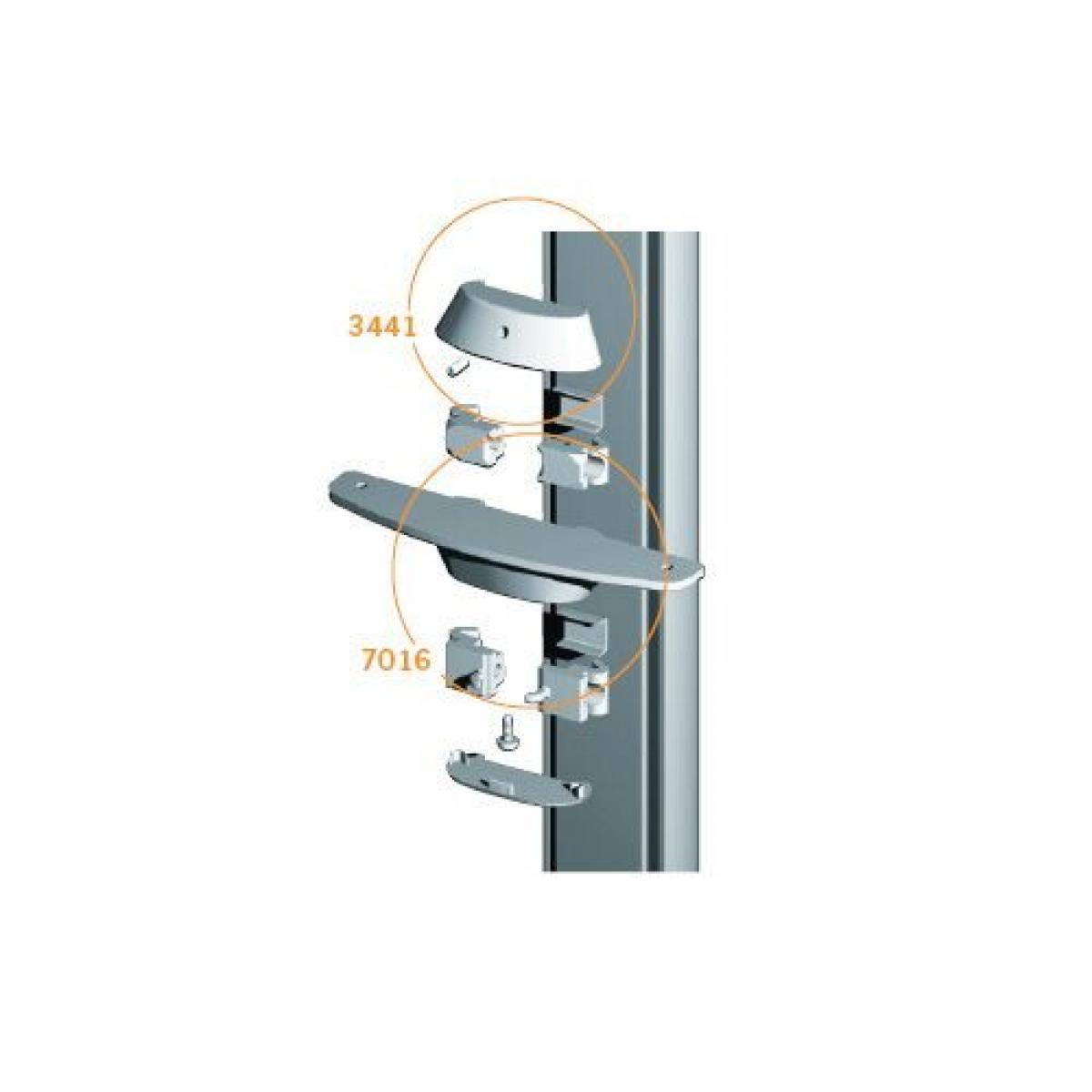Stilos 7016 крепление (2шт)  для деревянных полок цвет алюминий