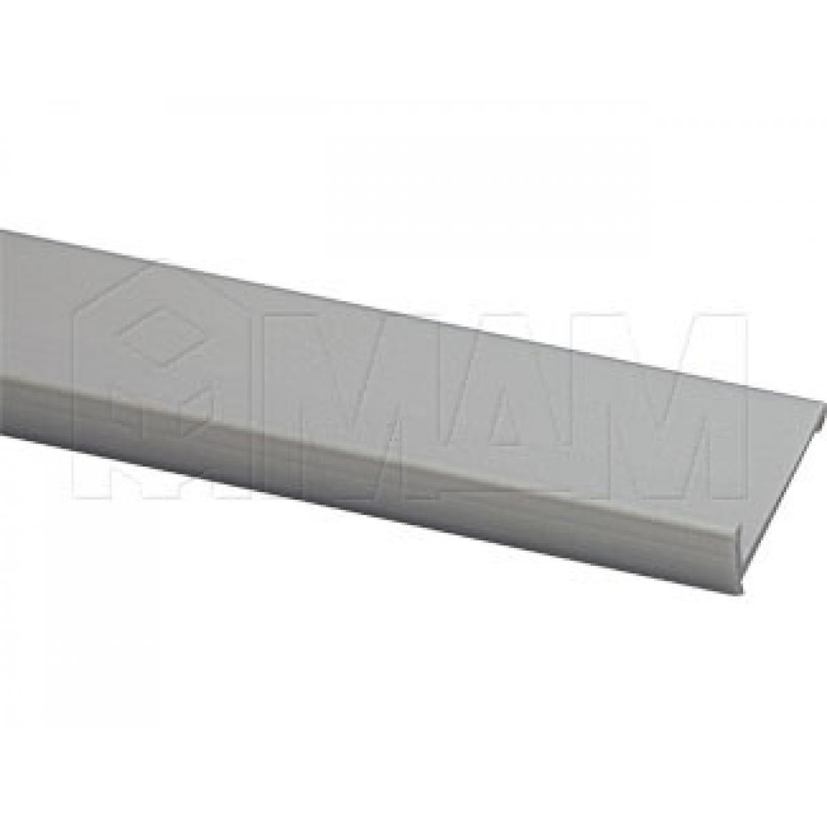 Декоративный профиль для 3708 и 2061, с ручкой, серебро, L-2600