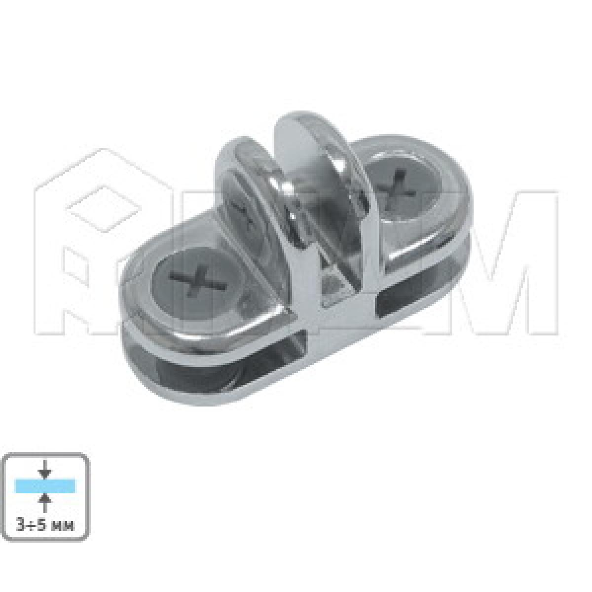 Соединители - Соединитель для 3-х стекол 5 мм, хром, 1 шт