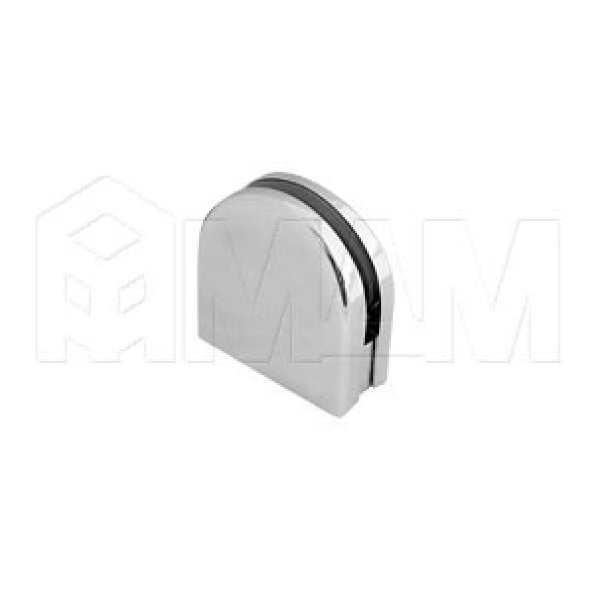Коннекторы - Коннектор труба-стекло 4-8 мм, хром