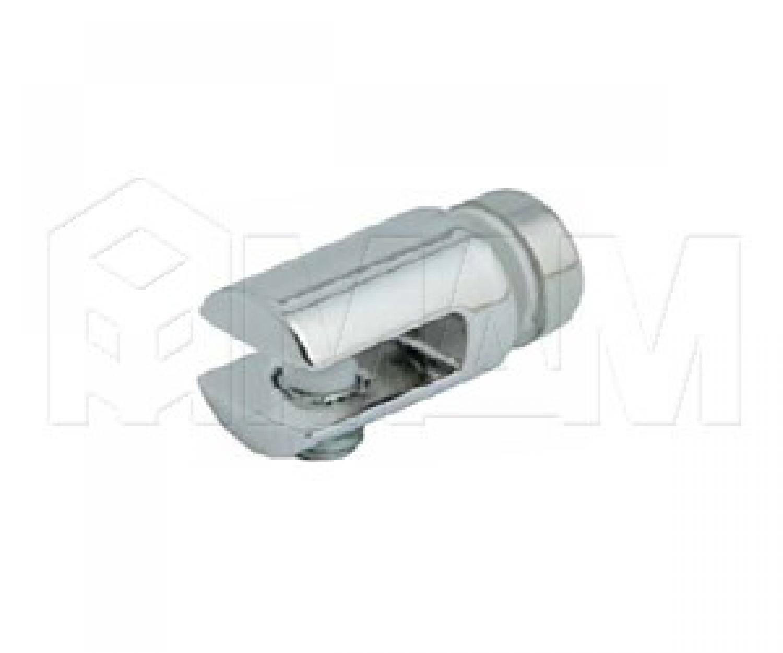 Полкодержатель для стекла 5-6 мм односторонний, хром