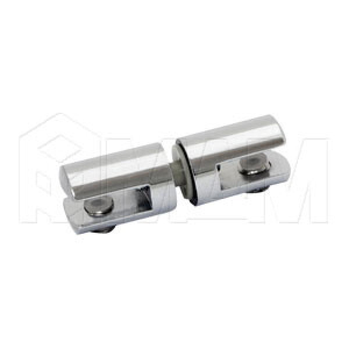 Полкодержатели - Полкодержатель для стекла 5-6 мм двухсторонний, хром