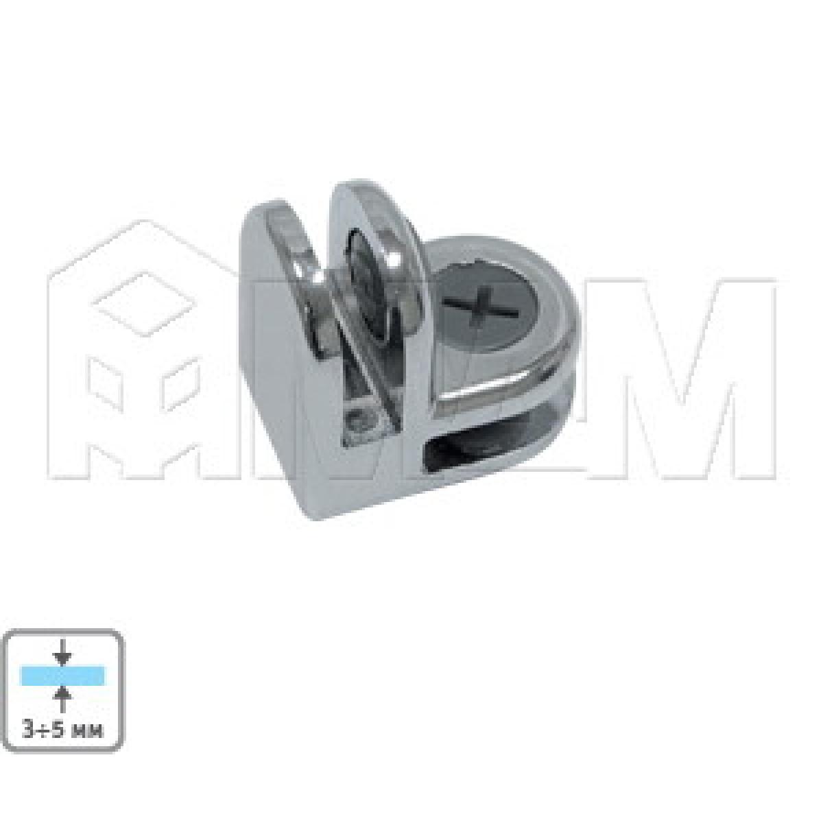 Соединители - Соединитель для 2-х стекол 5 мм, хром, 1 шт
