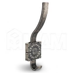 SPARTA Крючок двухрожковый серебро состаренное