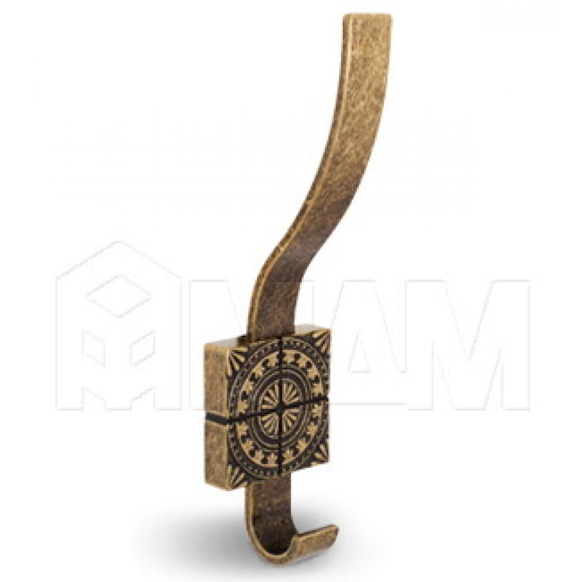 SPARTA Крючок двухрожковый бронза состаренная