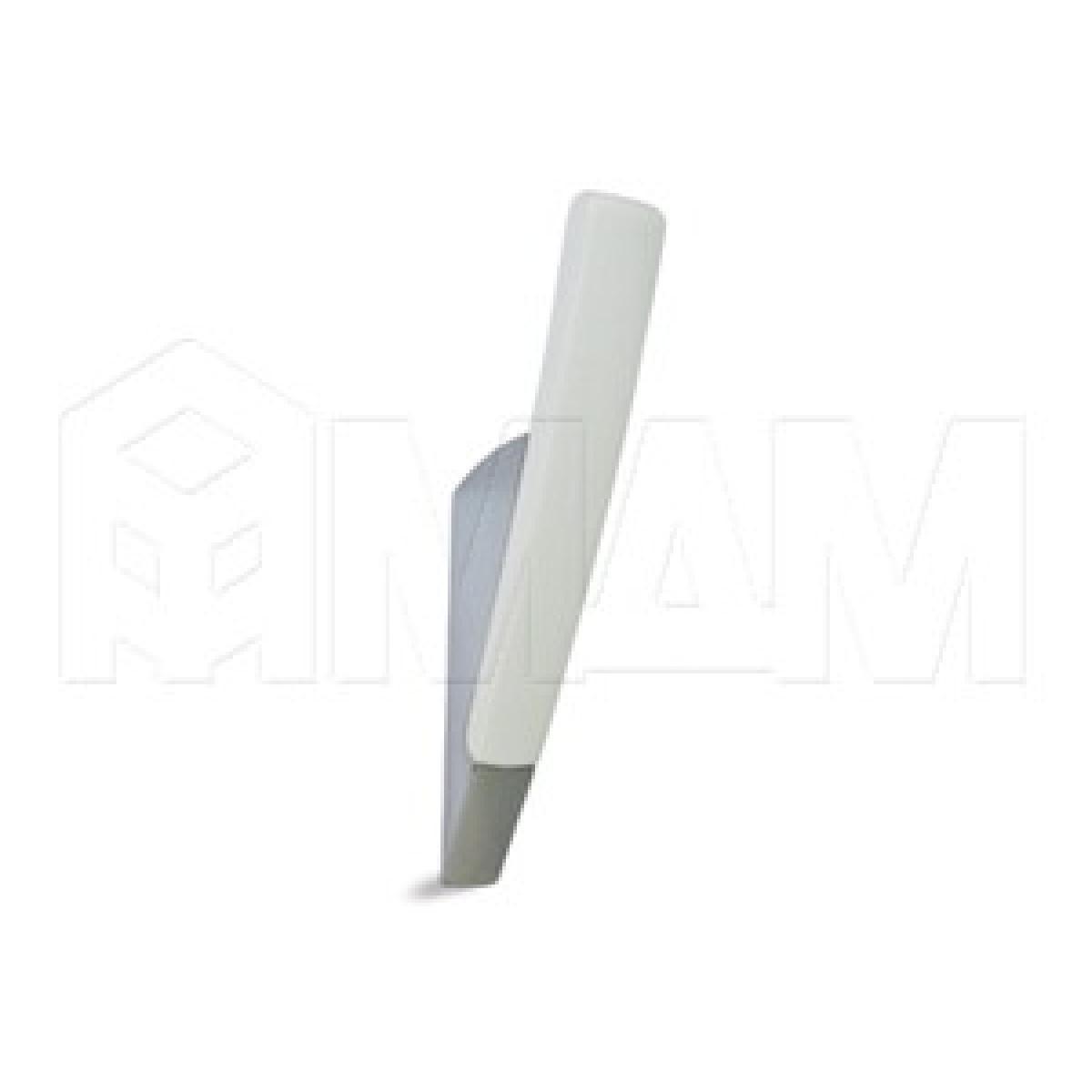 SALIX Крючок однорожковый хром/белый