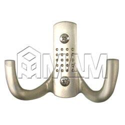 ARGUS Крючок двухрожковый никель матовый