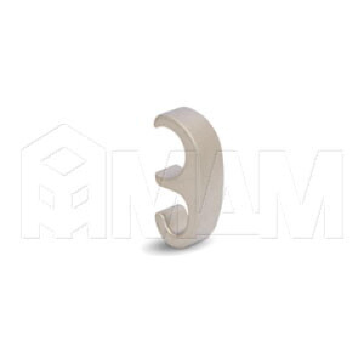 Крючок однорожковый никель матовый для рейлингов RE