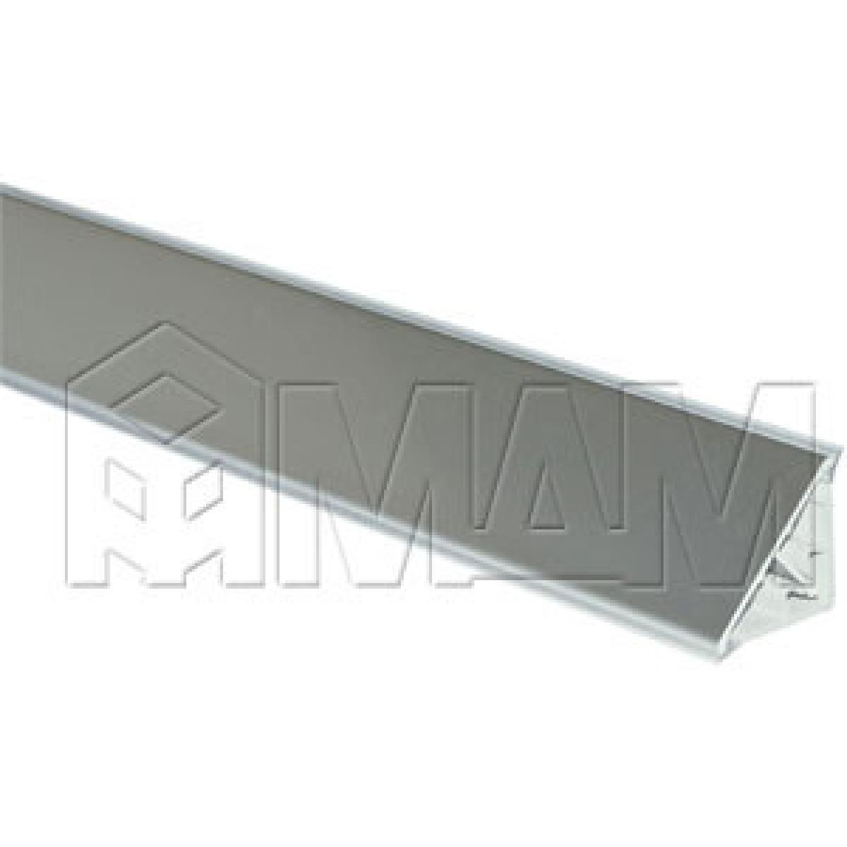 Плинтус алюминиевый треугольный L=4м, нержавеющая сталь