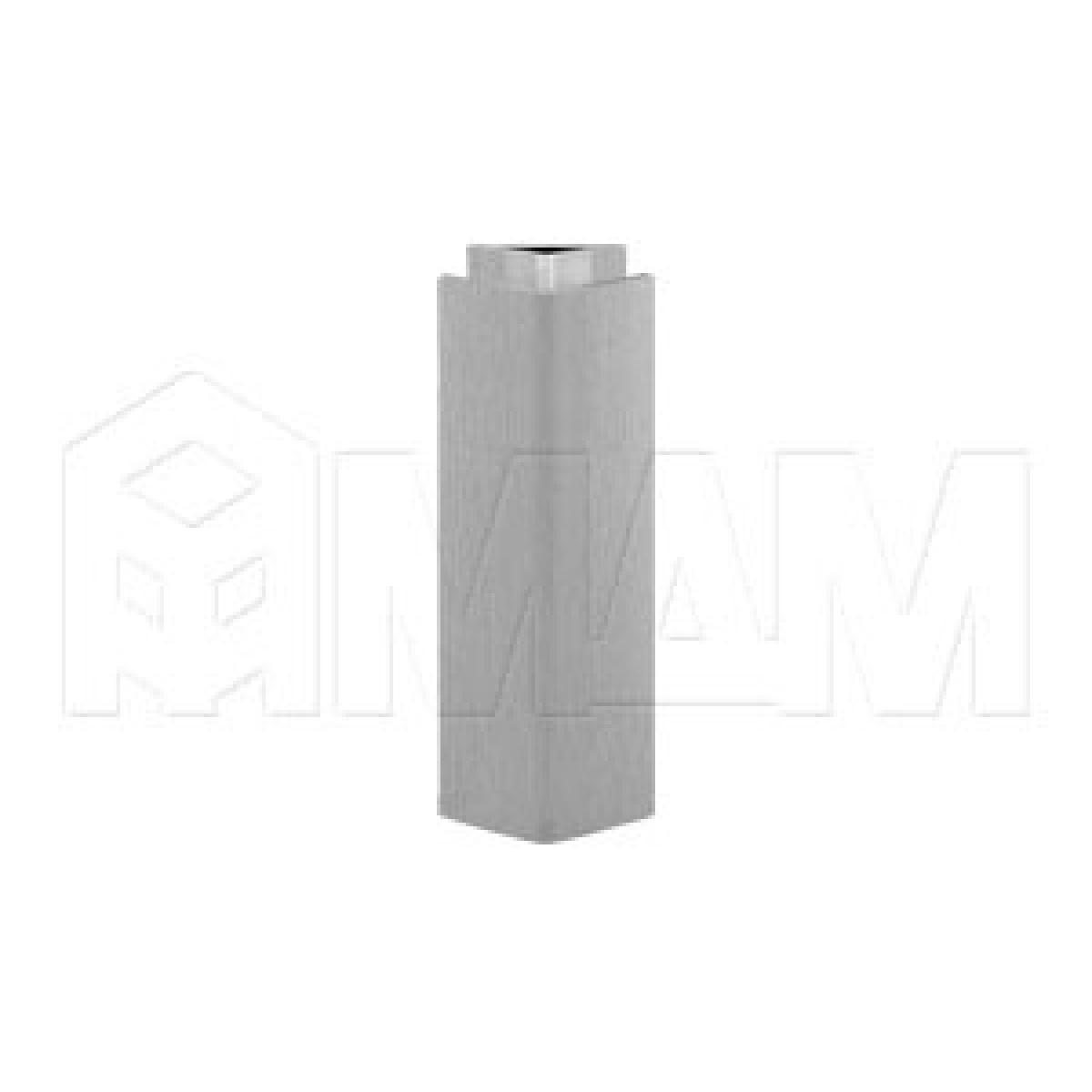 Цоколи пластиковые - Уголок 135 градусов (высота 100), нержавеющая сталь