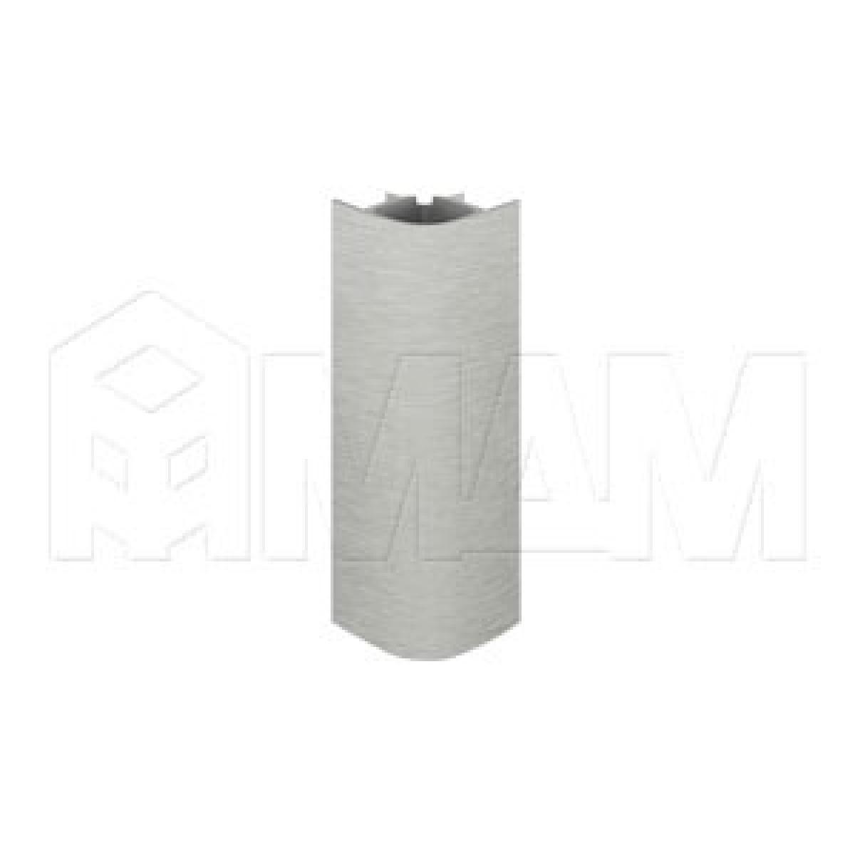 Цоколи пластиковые - Уголок 90 градусов (высота 120), нержавеющая сталь
