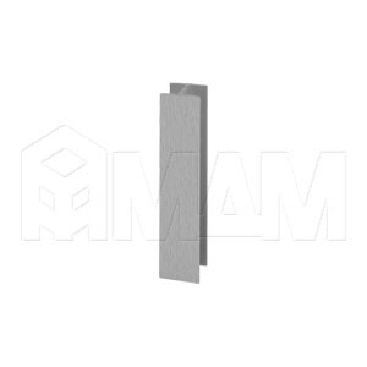 Цоколи пластиковые - Соединитель 180 градусов (высота 150), нержавеющая сталь