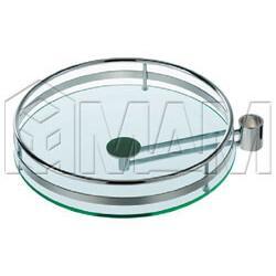 Барные стойки D50 мм - Полка круглая с выносн.крепл. со стеклом хром
