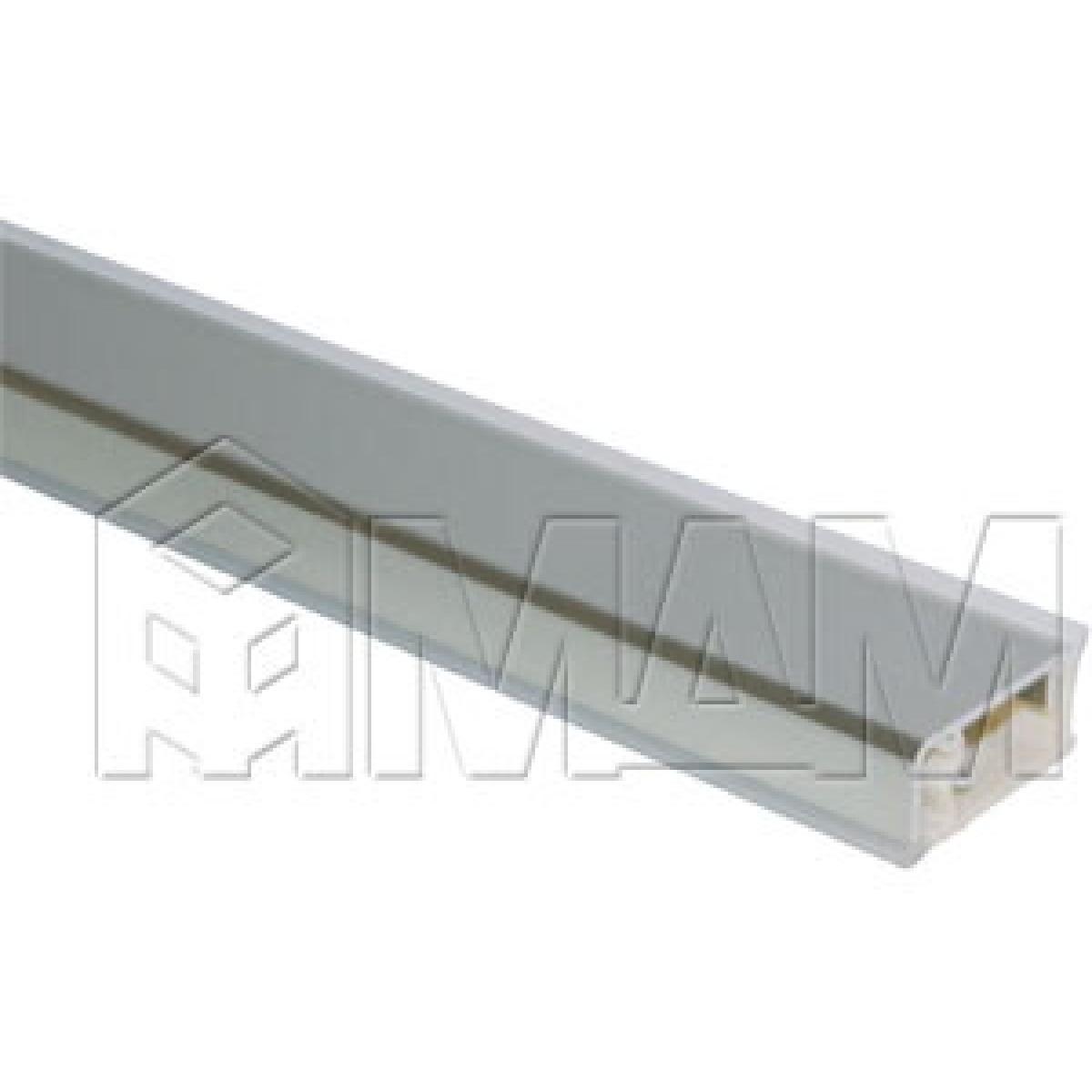 Плинтус алюминиевый прямоугольный горизонтальный L=4,2м, нержавеющая сталь