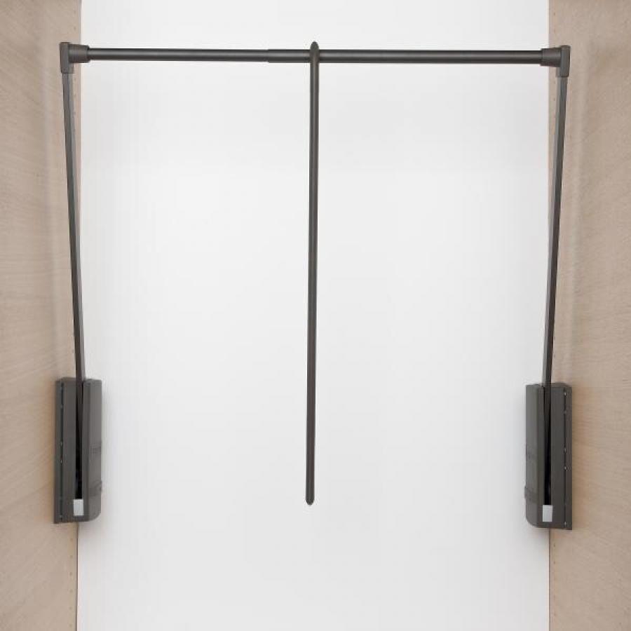 Лифт SERVETTO для одежды 60-120 см с нагрузкой до 10 кг. коричневый