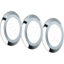 SMALLYx3 Комплект светильников с блоком питания, хром, 12V, теплый белый 3000К, 3W