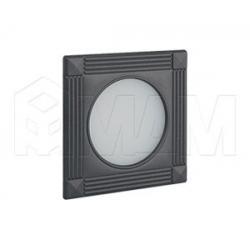 APSLEY Точечный светильник квадратный, графит, 12V, теплый белый 3000К, 3W