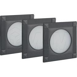 APSLEYx3 Комплект светильников с блоком питания, графит, 12V, теплый белый 3000К, 3W