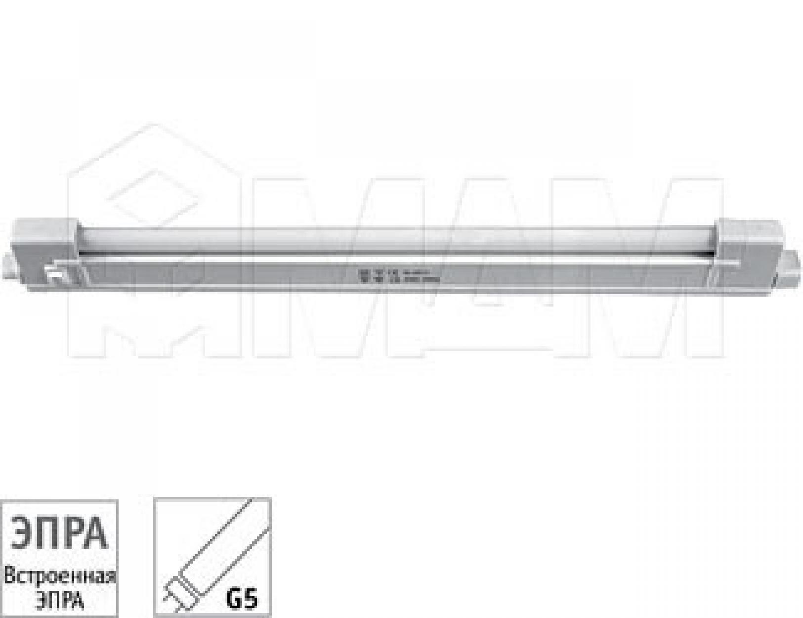 Светильник люминесцентный открытый, 270 мм, T4, 6W