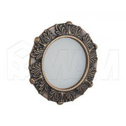 ACANTHUS Точечный светильник круглый, бронза состаренная, 12V, теплый белый 3000К, 3W