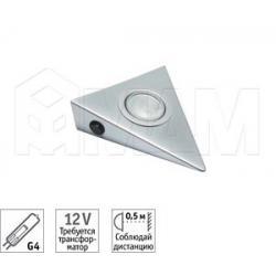 PYRAMID Светильник накладной, хром, с выкл., с лампой, G4, 20W