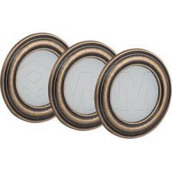 PASSEPARTOUTx3 Комплект светильников с блоком питания, золото состаренное, 12V, теплый белый 3000К, 3W