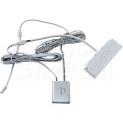 DOT FW Выключатель сенсорный диммируемый, накладной, цвет серебро, 12/24V, 36/72W