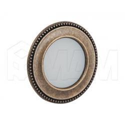 AKOYA Точечный светильник круглый, бронза состаренная, 12V, теплый белый 3000К, 3W